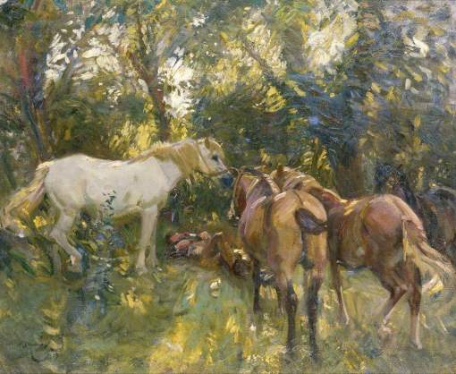 Munnings, Alfred James, 1878-1959; The Shady Grove
