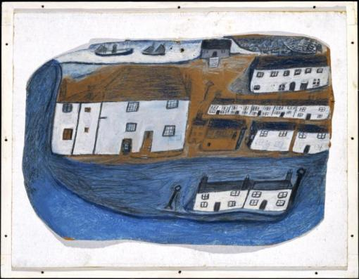 St Ives c.1928 by Alfred Wallis 1855-1942