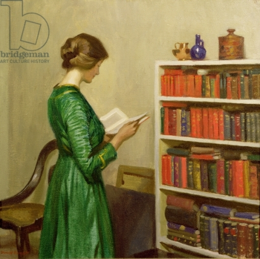 The Reader, c.1910 (oil on canvas)