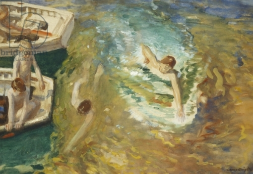 Bathing off the Boats, 1912 (w/c & bodycolour on paper)