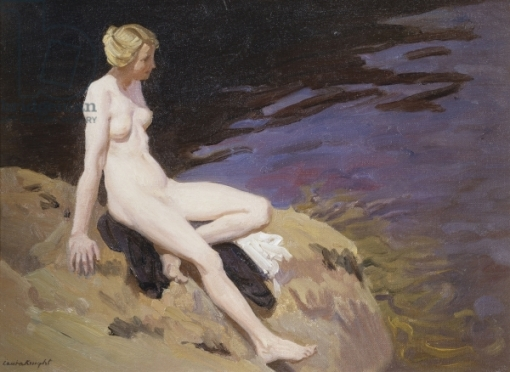 The Bather (oil on canvas)