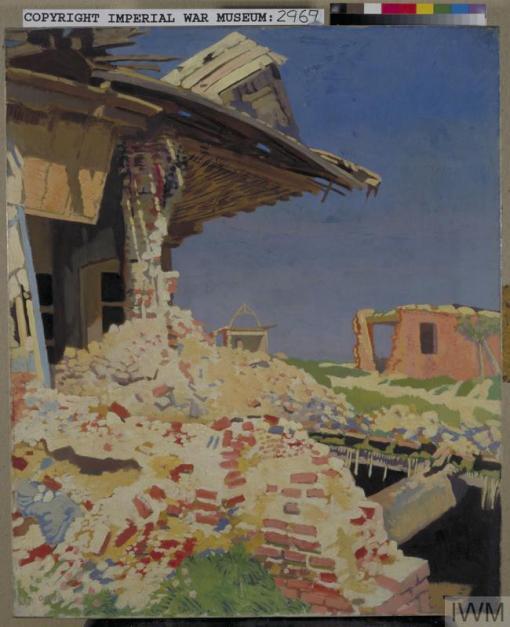 William Orpen - Combles 1917