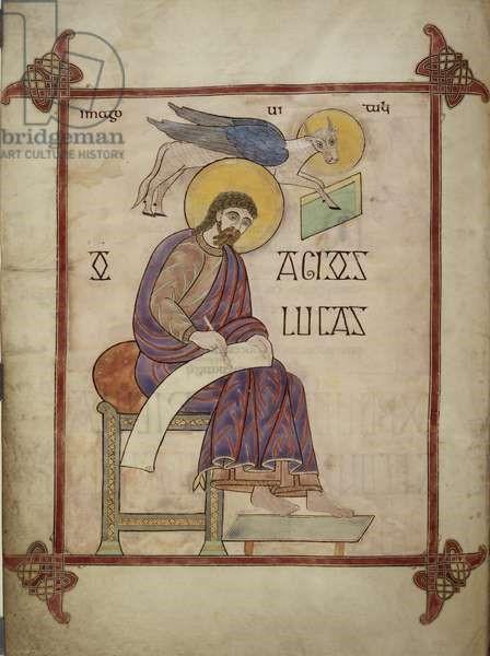 St Luke - Lindisfarne Gospels