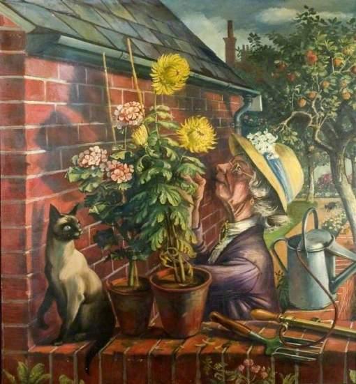 Sorrell, Alan, 1904-1974; Summer Scene Triptych