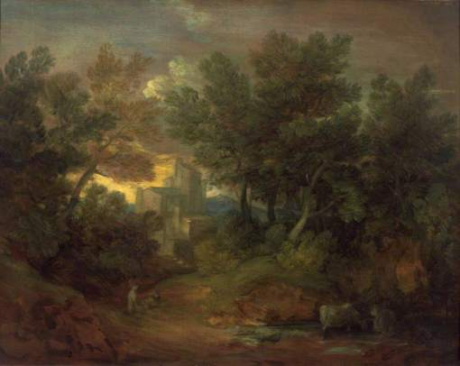 Gainsborough, Thomas, 1727-1788; Woody Landscape with Building