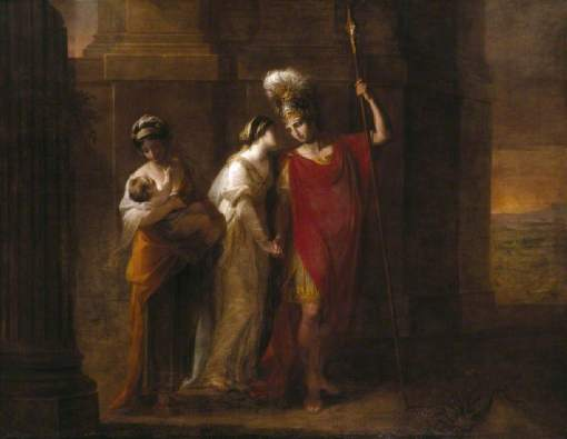 Kauffmann, Angelica, 1741-1807; Hector Taking Leave of Andromache