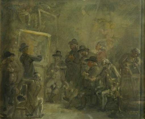 British School; Sketch: The Selection Committee of the Royal Academy (?)