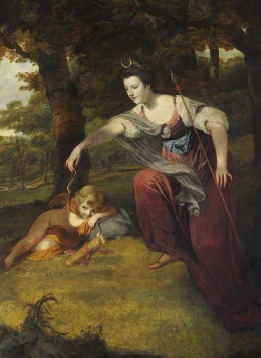 Reynolds, Joshua, 1723-1792; Diana Disarming Cupid: Elizabeth Dashwood (1741-1832), Duchess of Manchester, and Her Son George Montagu (1763-1772), Viscount Manderville