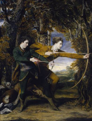 Colonel Acland and Lord Sydney: The Archers 1769 by Sir Joshua Reynolds 1723-1792