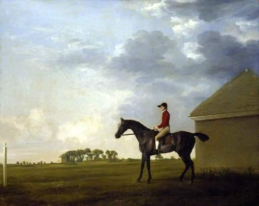 Stubbs, George, 1724-1806; Gimcrack with John Pratt up on Newmarket Heath