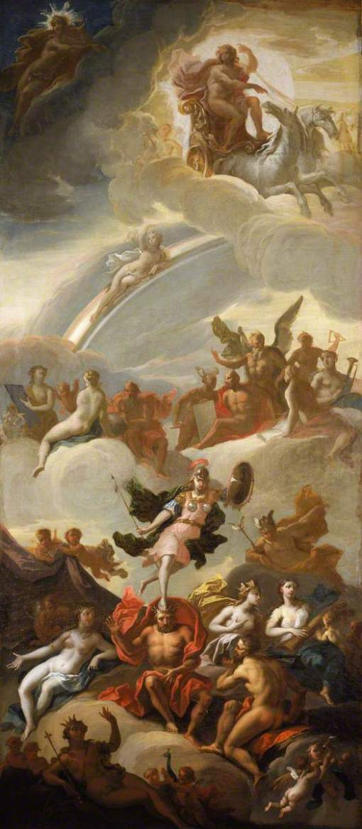 Thornhill, James, 1675/1676-1734; An Allegory of Apollo and Minerva as Wisdom and the Arts