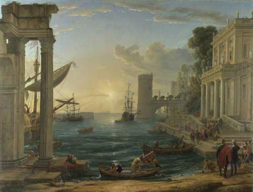 Lorrain, Claude, 1604-1682; Seaport with the Embarkation of the Queen of Sheba