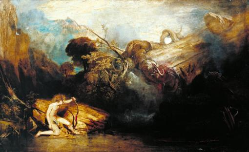 Apollo and Python exhibited 1811 by Joseph Mallord William Turner 1775-1851