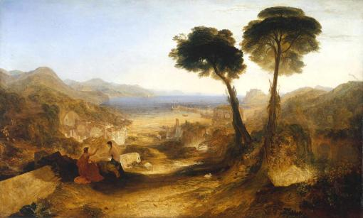The Bay of Baiae, with Apollo and the Sibyl exhibited 1823 by Joseph Mallord William Turner 1775-1851