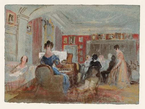 Music in the White Library 1827 by Joseph Mallord William Turner 1775-1851