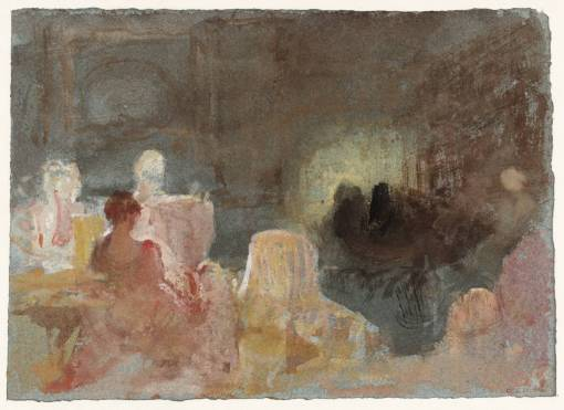 Fire-Light and Lamp-Light 1827 by Joseph Mallord William Turner 1775-1851