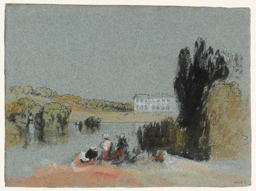 Petworth House from the Lake, with Figures 1825-7 by Joseph Mallord William Turner 1775-1851
