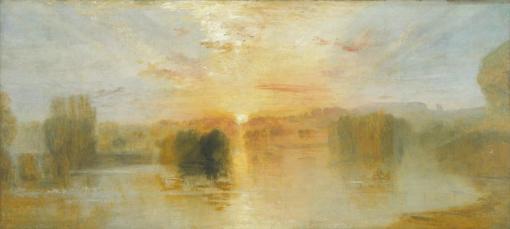 The Lake, Petworth, Sunset; Sample Study c.1827-8 by Joseph Mallord William Turner 1775-1851