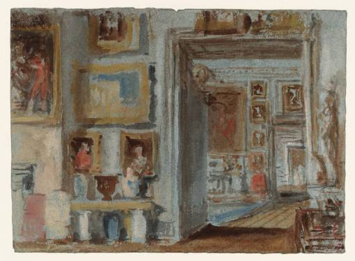 The Somerset Room: Looking into the Square Dining Room and beyond to the Grand Staircase 1827 by Joseph Mallord William Turner 1775-1851