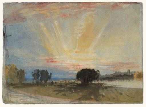 Sunset across the Park from the Terrace of Petworth House 1827 by Joseph Mallord William Turner 1775-1851