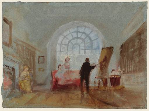 The Artist and his Admirers 1827 by Joseph Mallord William Turner 1775-1851