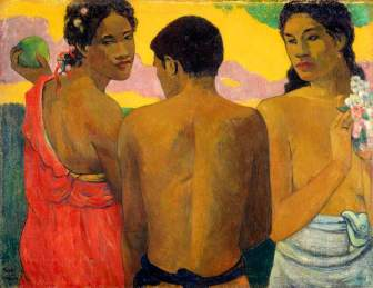 Gauguin, Paul; Three Tahitians; National Galleries of Scotland; http://www.artuk.org/artworks/three-tahitians-210083