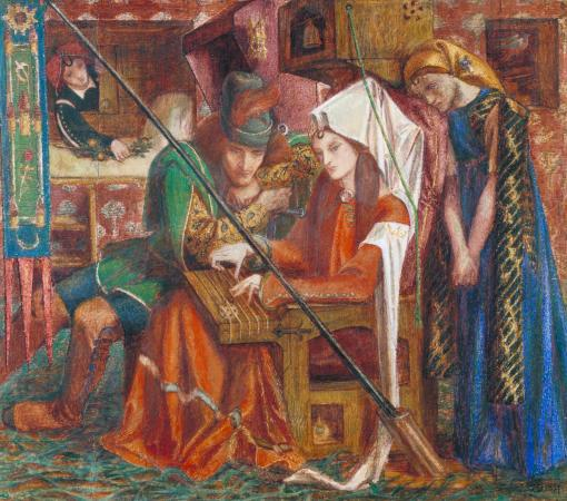 The Tune of the Seven Towers 1857 by Dante Gabriel Rossetti 1828-1882