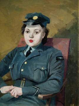 Dunbar, Evelyn Mary; Portrait of an Air Woman; Royal Air Force Museum; http://www.artuk.org/artworks/portrait-of-an-air-woman-135814