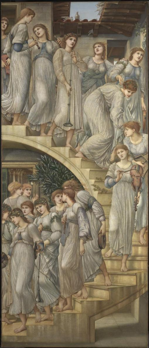 The Golden Stairs 1880 by Sir Edward Coley Burne-Jones, Bt 1833-1898