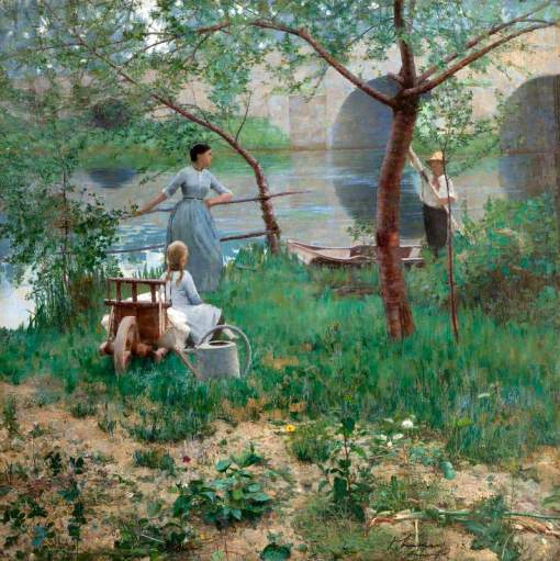 Lavery, John, 1856-1941; Under the Cherry Tree