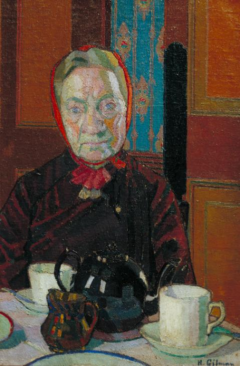 Mrs Mounter at the Breakfast Table 1916-7 by Harold Gilman 1876-1919