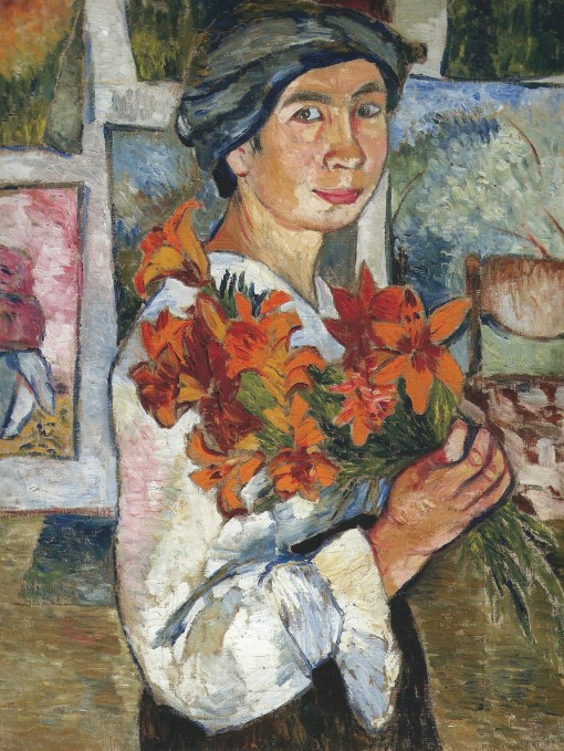 Goncharova - Self-portrait