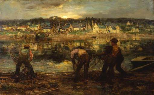 MacGeorge, William Stewart, 1861-1931; Salmon Fishers on the Dee at Kirkcudbright