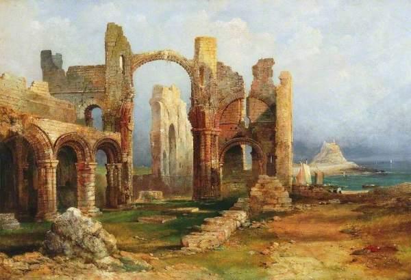Richardson I, Thomas Miles, 1784-1848; Lindisfarne Priory, Northumberland