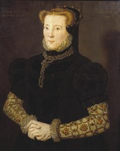 Portrait of an Unknown Lady 1557 by Hans Eworth active 1540-1573