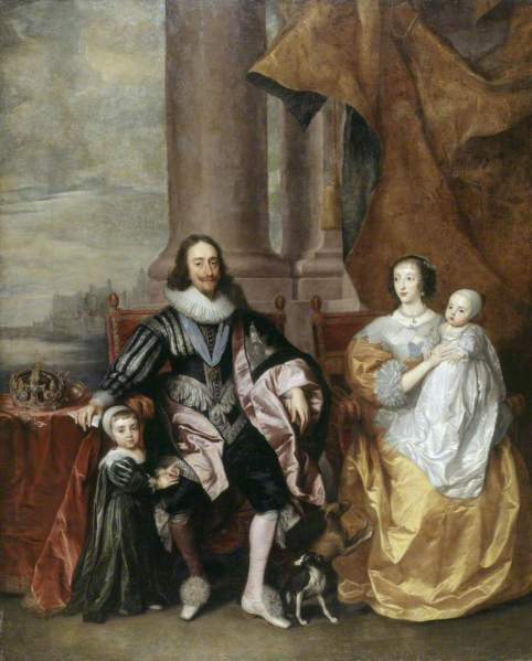van Dyck, Anthony, 1599-1641; Charles I (1600-1649), and Henrietta Maria (c.1609-1669), with Their Two Eldest Children, Prince Charles (1630-1685), and Princess Mary (1631-1660)