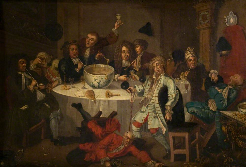 Hogarth, William, 1697-1764; A Modern Midnight Conversation