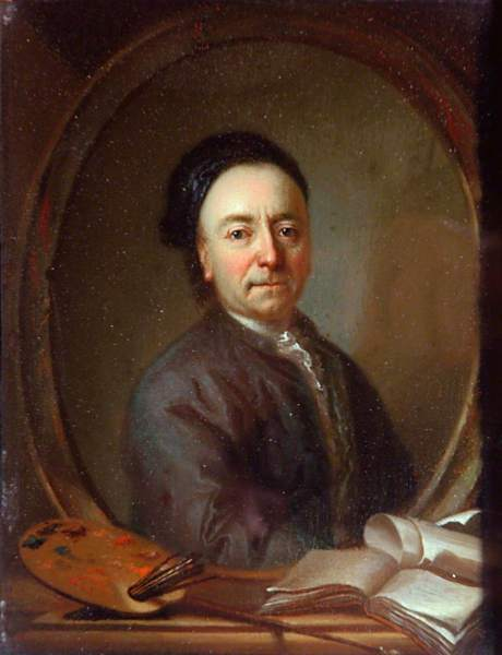 Richardson the elder, Jonathan, c.1664-1667-1745; Portrait of the Artist with His Palette and Manuscripts