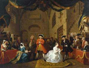 Hogarth, William, 1697-1764; A Scene from 'The Beggar's Opera' VI