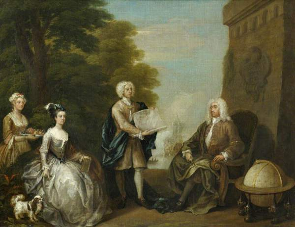 Hogarth, William, 1697-1764; Woodes Rogers (c.1679-1732), and his Family