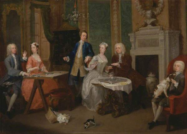 Hogarth, William, 1697-1764; Portrait of a Family