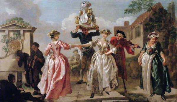 Hayman, Francis, 1708-1776; The Milkmaid's Garland (Humours of May Day)