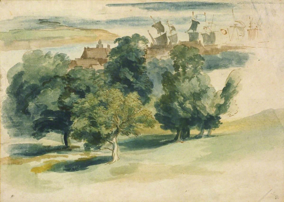 van Dyck, Anthony, 1599-1641; An English Landscape