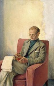 Portrait of Sir John Rothenstein C.B.E. 1938 by Sir William Rothenstein 1872-1945