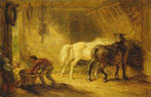 Ward, James, 1769-1859; Interior of a Stable