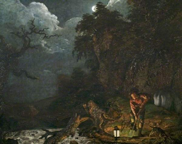 Wright of Derby, Joseph, 1734-1797; Earthstopper on the Banks of the Derwent
