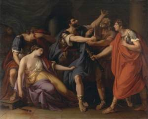 Hamilton, Gavin, 1723-1798; The Death of Lucretia