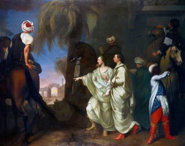 Hamilton, Gavin, 1723-1798; James Dawkins and Robert Wood Discovering the Ruins of Palmyra