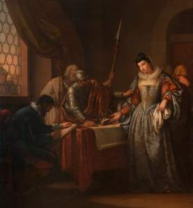 Hamilton, Gavin, 1723-1798; The Abdication of Mary, Queen of Scots