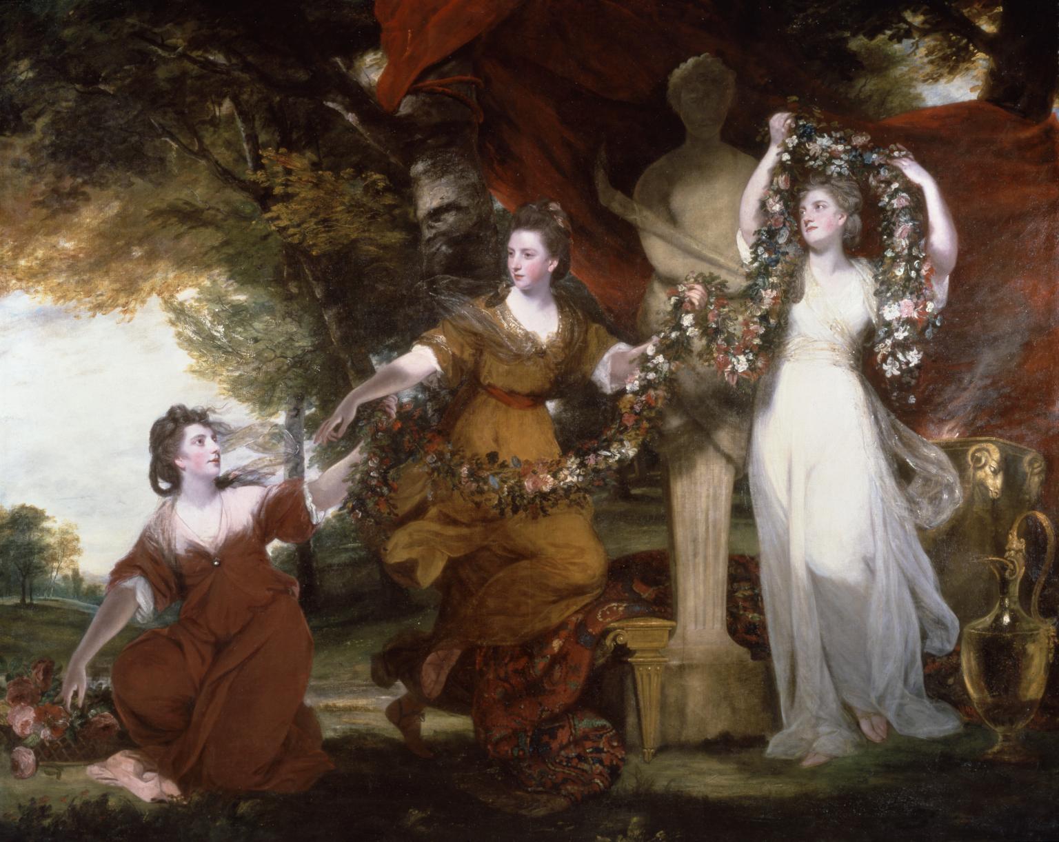 Three Ladies Adorning a Term of Hymen 1773 by Sir Joshua Reynolds 1723-1792